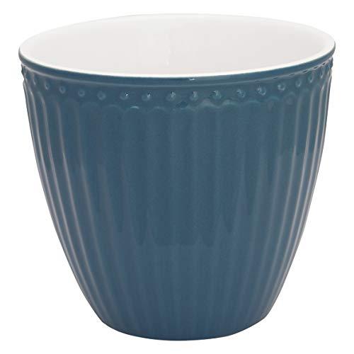 GreenGate - Latte Cup, Kaffeebecher, Becher - Alice - Porzellan - Ocean Blue - 300 ml
