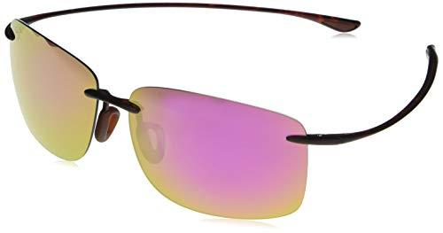 Maui Jim Hema w/ Patented PolarizedPlus2 Lenses Polarized Rimless Sunglasses, Tortoise Matte/Maui Sunrise Polarized, Large