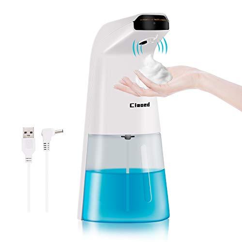 Ciaoed 250ml Dispenser Automatico di Sapone schiumogeno Dispenser Automatico di disinfettante per Le Mani Touchless per Bagno Cucina Toilette