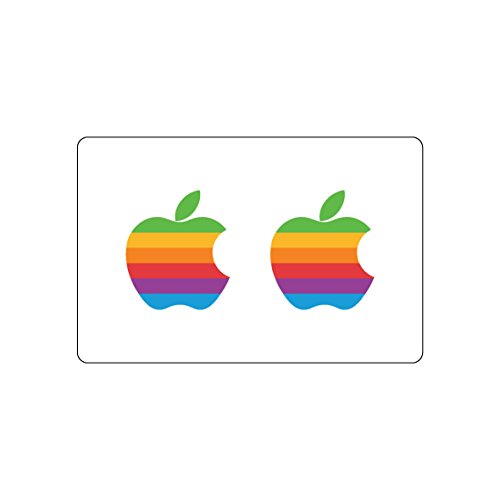 Pack of 2 Apple Logo Sticker | MacBook Retro Decal | iPhone Special Event...