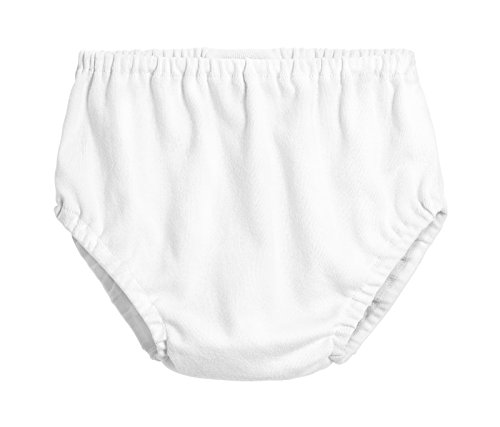 City Threads Baby Girls' and Baby Boys' Unisex Organic Diaper Covers Bloomers Soft Cotton, White, 6-9m