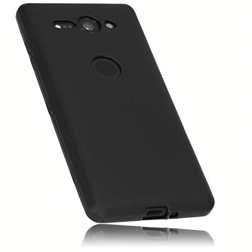 mumbi Hülle kompatibel mit Sony Xperia XZ2 Compact Handy Hülle Handyhülle, schwarz