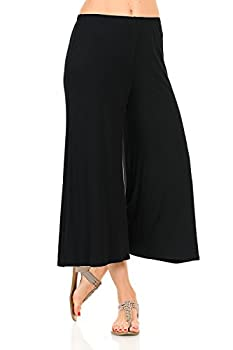 iconic luxe Women s Elastic Waist Jersey Culottes Large Black