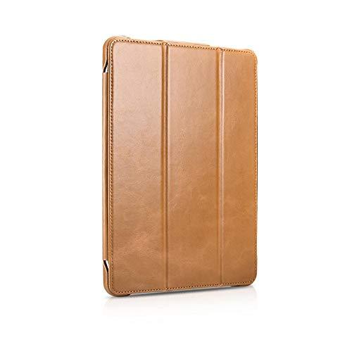 Cowhide flat protective case for iPad Pro 12.9 Flip Holder Holster-Khaki por10.5/air3