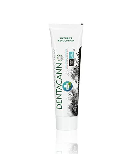 Annabis Dentacann | 100% natürliche whitening Aktivkohle zahnpasta fluoridfrei | Bambus & Kalident | 100g