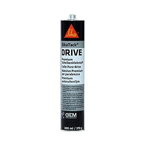 SikaTack DRIVE - Colle pare-brise élastique 60 min - Sika - Cartouche de 300 ml