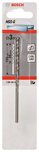 Bosch 2608595676 Metal Drill Bit Hss-G Din 340 3x2.6In