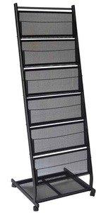 6 Pocket Mobile Literature Display Rack (Medium)