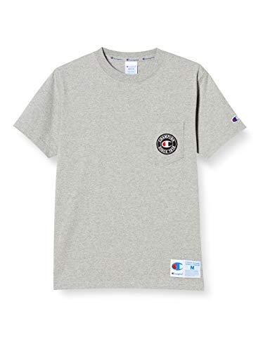 [チャンピオン] Tシャツ 半袖 綿100% ポケットTシャツ ロゴフェルトワッペン ジョックタグ付きショートスリーブTシャツ C3-T319 メンズ オックスフォードグレー XL