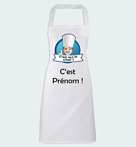 avis c est qui le professionnel Yonacrea-Cooking Tablier-Qui est le chef?  – Avec nom personnel – Modèle masculin -…