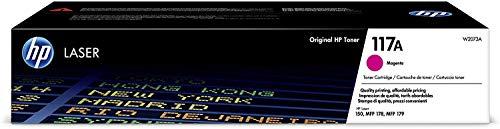HP Toner 117A W2073A, Cartuccia Originale da 700 Pagine, Compatibile con Stampanti HP Toner Color LaserJet Serie 150 e HP Toner Color Laserjet Serie MFP 170, Magenta