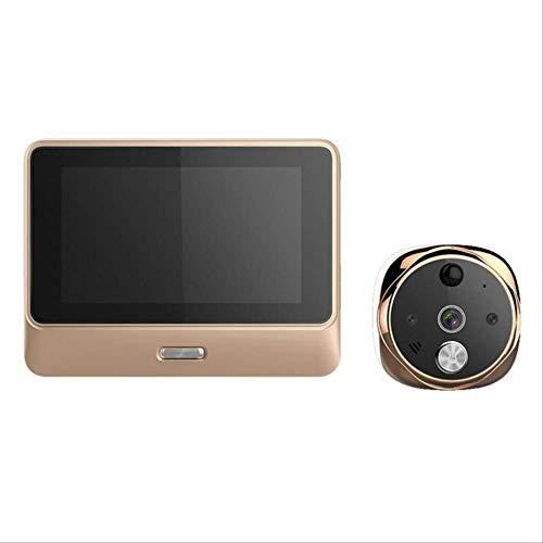 Video Doorbell Inicio Video-Eye WiFi Visores Digitales De Puerta Visor De Seguridad Dorado Cámara Visión Nocturna Sensor De Movimiento Ga Termostato A