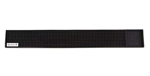 SIXBY Barmatte - Gläserabtropfmatte 59cm x 8cm genoppt (Schwarz)