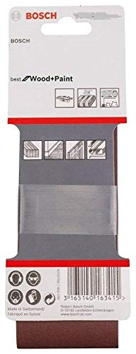 Preisvergleich Produktbild Bosch Genuine Schleifbänder (passend für: Bosch PBS 75 A & GBS 75AE Schleifer) (keine Bosch Pt 2608606085 & 2608606074) (Grit=220) (,  1 Packung mit 10 Gürtel) C / W KeyTape STANLEY + Cadbury Schokoriegel