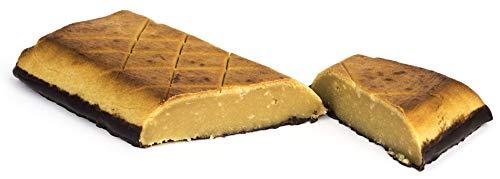 Edelmond geflämmtes Bio Marzipan-Brot. Handgemacht aus Mandeln, Honig und Kakaobohne, sonst zuckerfrei - Schokolade ohne Zucker. Königsberger XL-Praline Geschenk