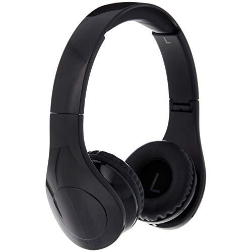 Amazon Basics - Over-Ear-Kopfhörer für Kinder, mit begrenzter Lautstärke, Kabel und zwei Anschlüssen zum Teilen, Schwarz