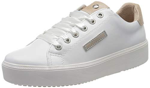 Dockers by Gerli Women's Low-Top Sneakers, White (Weiss/Rose 593), 10