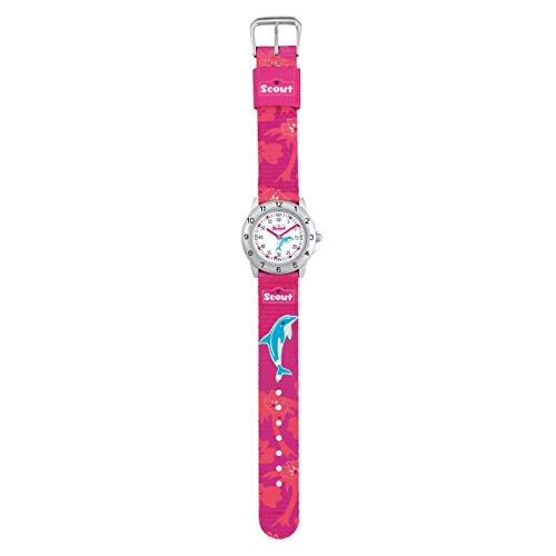 SCOUT Mädchen Analog Quarz Uhr mit Stoff Armband 280378010