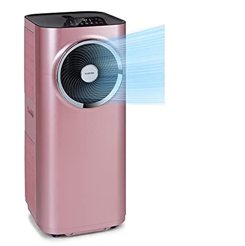 Klarstein Kraftwerk Smart - Condizionatore portatile, 3in1: Raffrescatore, Deumidificatore, Ventilatore, Classe Energetica A, Wi-Fi: Controllo con App, 10.000 BTU/2,9 kW, Locali: 29-49 m², Oro Rosa