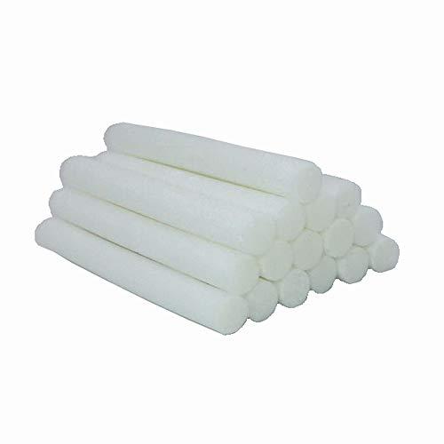 Binhai Cotton Filter Sticks 16-Pack Cotton Filter Refill Sticks Wick Replacement Sponge Filters for Portable nanum Car Humidifier Essential Oil Diffuser Wicks