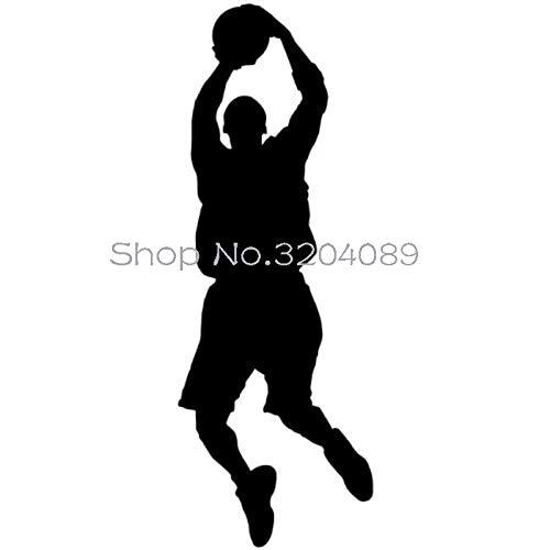 Beliebteste Wohnzimmer Basketball Shoter Wandaufkleber Vinyl Abnehmbare Wohnkultur Für Kinderzimmer Sport Abbildung Kunst Decals 21 * 56 CM