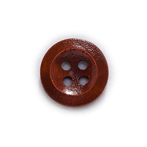 KJHA 4 Hole 5 kleuren Ronde Wooden Buttons Sewing Plakboek Kleding Handwerk Gift Jacket Blazer Sweaters Handwork Accessories 10-25mm (Color : Red coffee, Size : 25mm 30pcs)
