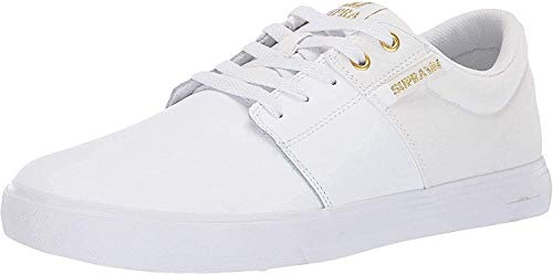 Supra Unisex-Erwachsene STACKS VULC II Sneaker, Weiß (Gold-White 122), 47.5 EU