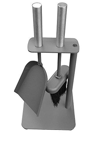 Alpertec Kamingarnitur 2-tlg (Schaufel, Besen, Kehrgarnitur für Kamin mit Edelstahlgriffen, 35 x 16 x 16 cm) 39011250