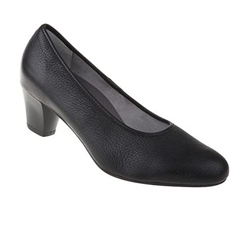 Natural Feet Damen Pumps Cathrin | Echtes Hirschleder | Weite H | Hallux geeignet 38 schwarz