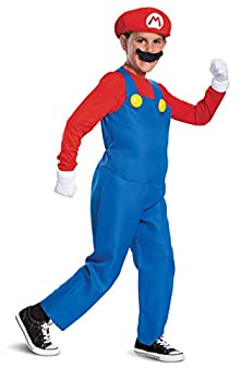 Disguise Nintendo Mario Deluxe Boys  Costume Red L  10-12