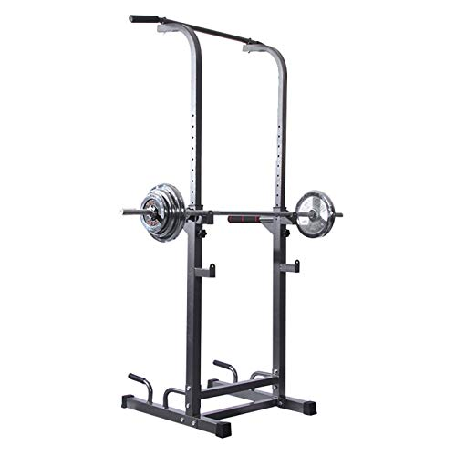Barbell Stand Ajustable En Rack con Barra 9 Niveles Ajustables Jaula De Sentadillas Home Fitness Equipment Equipo De Entrenamiento del Peso Altura Ajustable,HSGAV