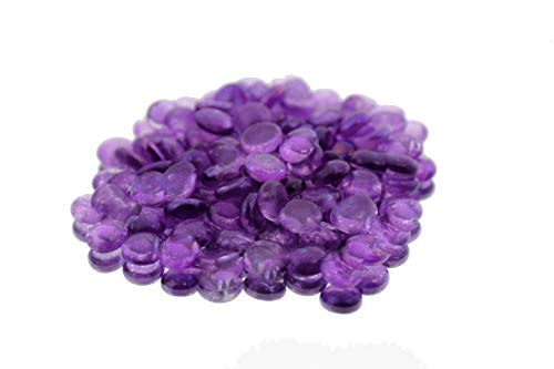 WGV Flat Marbles, Pebbles, Glass Gems for Vase Fillers, Party Table Scatter, Wedding, Decoration, Landscaping, Aquarium Decor, Crystal Rocks, Purple (2 Pounds, Approx 200 pcs)