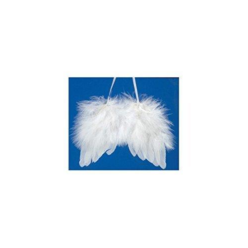 GLOREX alas de ángel, Plumas, Color Blanco, 15.5x 17,5x 1.5cm
