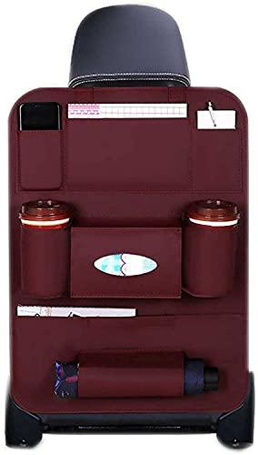 Organizador de automóviles, Protectores de respaldo de Asiento Portátil Universal con 8 bolsillo de almacenamiento, fácil de lavar, Viaje por carretera Esenciales para niños accesorios coche interior