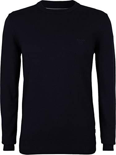 Joop! Herren Rundhals Strickpullover Langarm Pullover Bruce S M L XL XXL Blau Schwarz Ro ;Grau Anthrazit 85% Baunwolle, Größe:S, Farbe:Dunkelblau (405)
