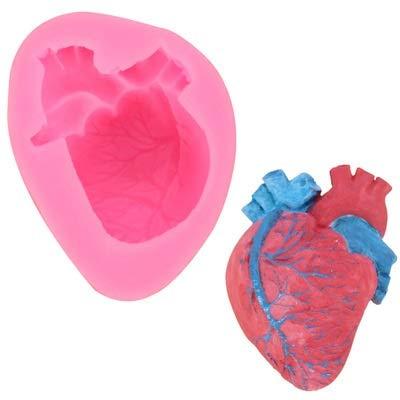 HONGTAI Kreative Halloween-Kerze-Form-Heart-Shaped Scary Props Gipsformen Silikon-Form (Color : Random Color)