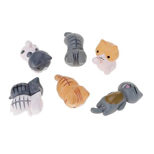 Sasitobe Miniatura del Gato Figurita Modelo 6pcs Hada del Jardín del Paisaje del Jardín Bonsai Decoración Niños De Juguete Muñeca Mini Cat