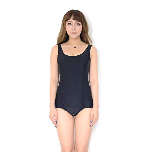 Japanischer Cartoon Oder School Rock Mizugi Vorne Schule Frauen Badeanzug Festlich Bekleidung Schritt Unten One Body Badeanzug (Color : Schwarz, Size : M)