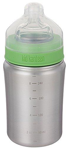 Klean Kanteen 1000277 Kinderflasche, 266 ml, silber matt