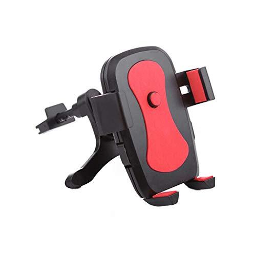 xingguang Soporte para teléfono móvil, soporte para coche, soporte para teléfono móvil, soporte para rejilla de ventilación para coche, accesorios para interiores de automóviles (color rojo)