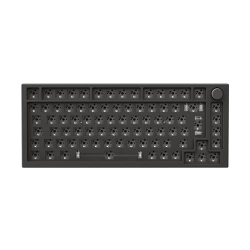 Glorious PC Gaming Race GMMK Pro White Ice 75% TKL Tastatur - Barebone, ANSI-Layout, argento