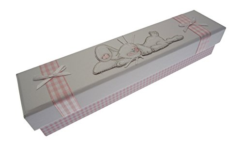 White Cotton Cards certificat de naissance support (Rose Sleeping Bunny)