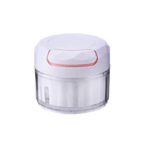 Máquina mezcladora de ajo manual Mini picadora de verduras con ajo Trituradora picadora de carne Máquina de suplemento de alimentos para bebés Molinillo de cocina para triturar frutas y verduras Molin