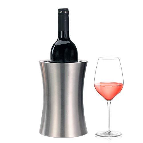 GOHHK Weinkühlereimer, doppelwandiger isolierter Weinkühler/Champagner-Eimer aus Edelstahl, kalter Wein für den Mehrzweckgebrauch als Küchengerät aufbewahren