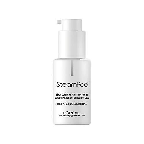 L\'Oréal Professionnel Paris SteamPod Konzentriertes Serum, Pflege-Serum für glattes Haar, schützt & pflegt geglättetes Haar, Hitzeschutz, sorgt für Glanz und Geschmeidigkeit, 50 ml