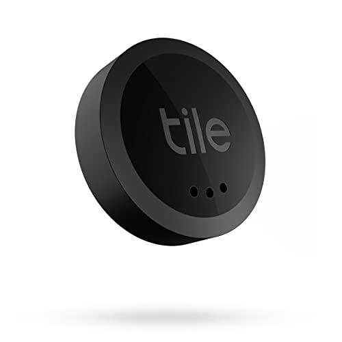 Tile Sticker (2022) Bluetooth Trova oggetti, 1 Pezzo, Portata di rilevamento di 45 m, batteria 2 anni, compatibile con Alexa e Google Home, iOS e Android, Trova chiavi, telecomandi e altro, nero