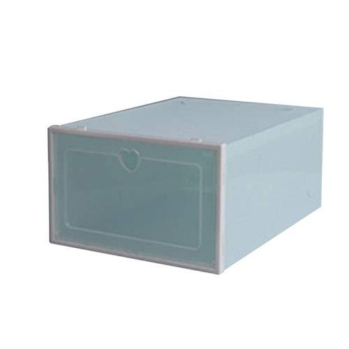 Yyqx Zapatero de plástico transparente para zapatos, caja de zapatos, caja de zapatos, caja de zapatos, cubierta con tapa, cajón, almacenamiento de zapatos y artefactos (color: verde)