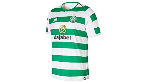 New Balance Herren Celtic Glasgow Home 2018/2019 Trikot, Weiß, S