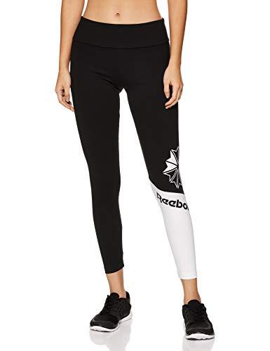 Reebok AC Logo Legging Leggins, Mujer, Negro, XS