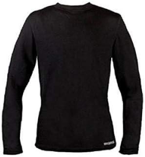 Omni-Wool Thermal Base Layer Men's Crew Top, Black, Small